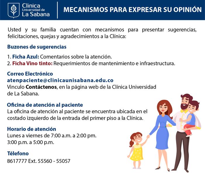 Atención al paciente Clínica Universidad de La Sabana